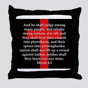 Micah 4-3 Throw Pillow