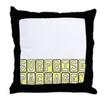 Surprise Package Maternity Throw Pillow