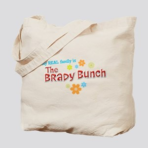 My REAL Family is The Brady Bunch Tote Bag