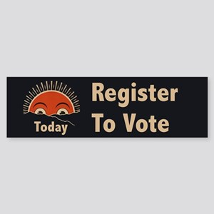 Today Register to Vote Sticker (Bumper)