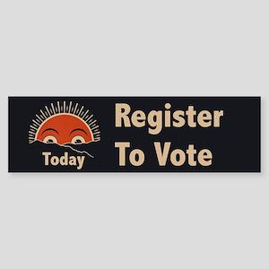 Today Register to Vote Sticker (Bumper)