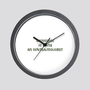 Happiness is being an OPHTHAL Wall Clock