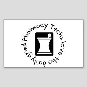 Pharmacy Techs Grind Rectangle Sticker