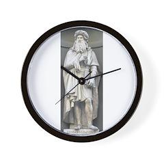 Statue of Leonardo Wall Clock