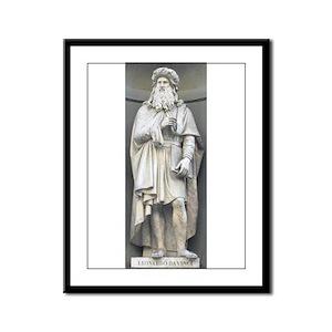 "12"" hi Statue of Leonardo Framed Panel Print"