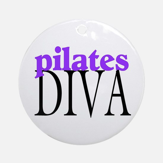 Pilates Diva Ornament (Round)