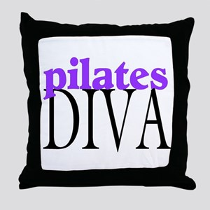 Pilates Diva Throw Pillow