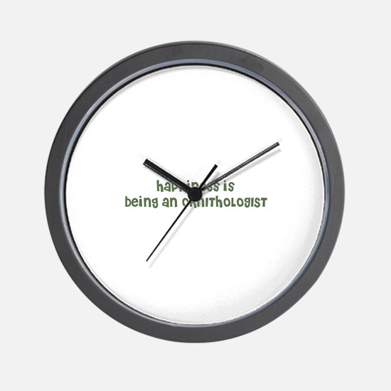 Happiness is being an ORNITHO Wall Clock