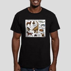 Maryland State Animals Men's Fitted T-Shirt (dark)