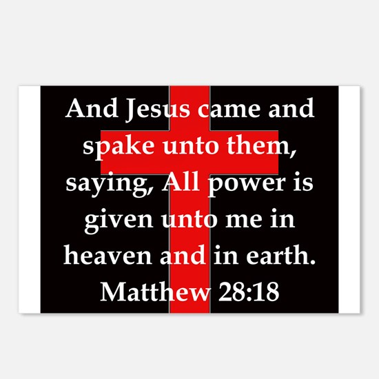 Matthew 28-18 Postcards (Package of 8)
