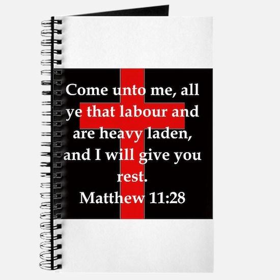 Matthew 11-28 Journal