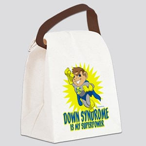 Down Syndrome Is My Superpower Canvas Lunch Bag