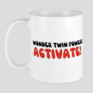 Wonder Twin Text Mug