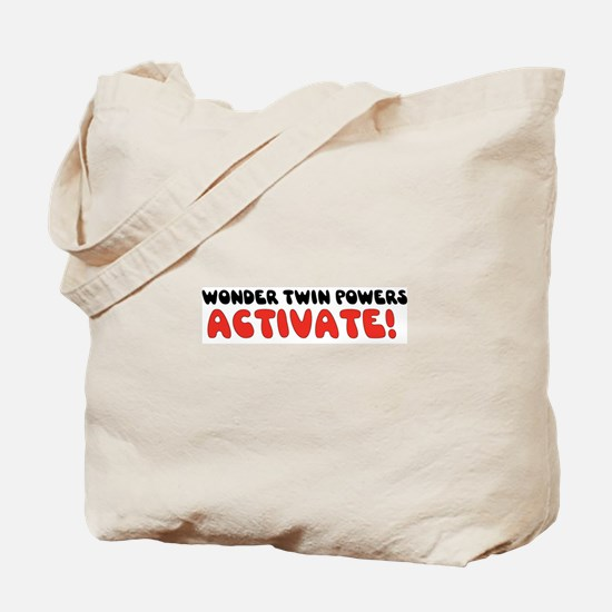 Wonder Twin Text Tote Bag