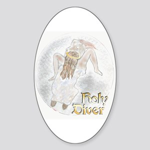 Holy Diver Oval Sticker