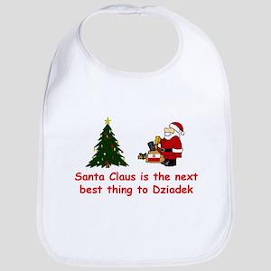 Santa vs Dziadek Bib