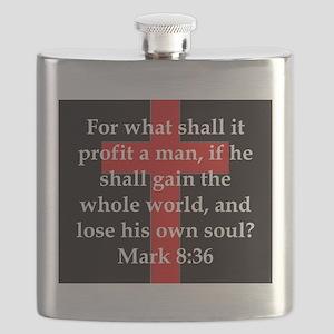 Mark 8-36 Flask