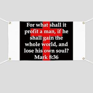 Mark 8-36 Banner
