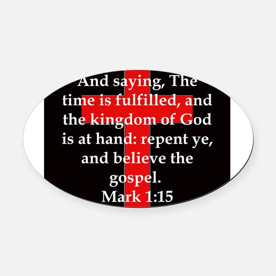 Mark 1-15 Oval Car Magnet