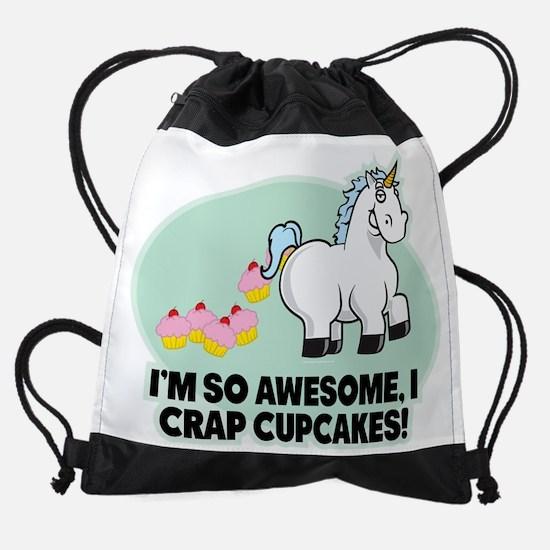 Crapping Cupcakes Drawstring Bag