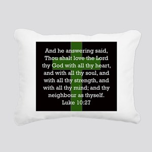 Luke 10:27 Rectangular Canvas Pillow