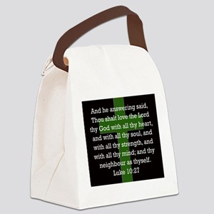 Luke 10:27 Canvas Lunch Bag
