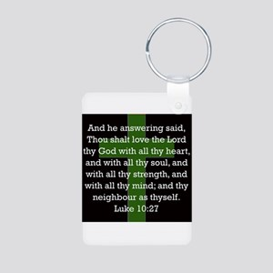 Luke 10:27 Aluminum Photo Keychain