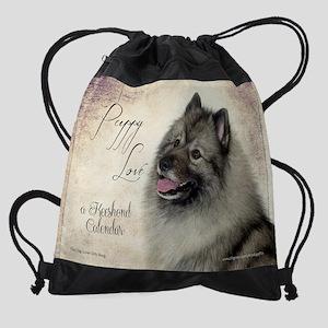 Keeshond Calendar Drawstring Bag