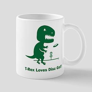 T-Rex Loves Disc Golf Mug