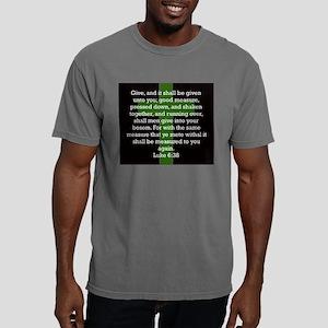 Luke 6-38 Mens Comfort Colors Shirt