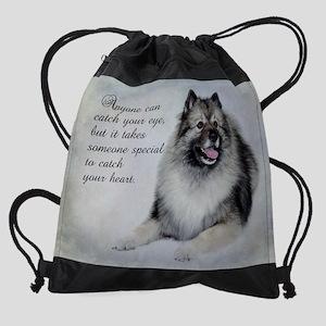 Keeshond Drawstring Bag