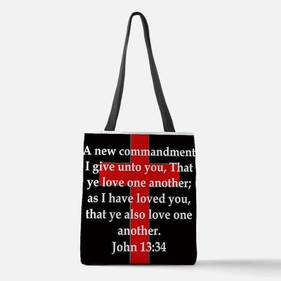 John 13-34 Polyester Tote Bag