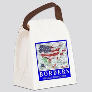 US Borders Canvas Lunch Bag
