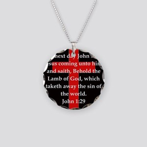 John 1-29 Necklace Circle Charm