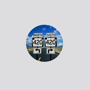 420 Roadsigns Mini Button