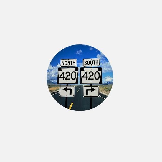 420 Roadsigns Mini Button