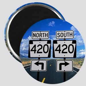 420 Roadsigns Magnet