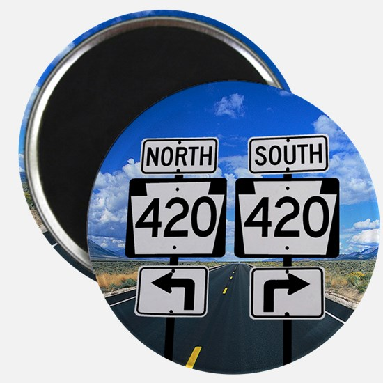 420 Roadsigns Magnet