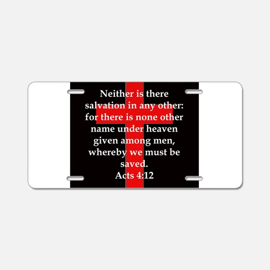Acts 4-12 Aluminum License Plate
