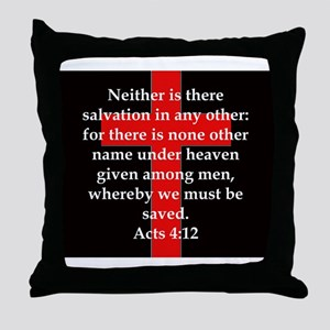 Acts 4-12 Throw Pillow