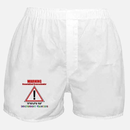 Rainbow Unsocialized Homescho Boxer Shorts