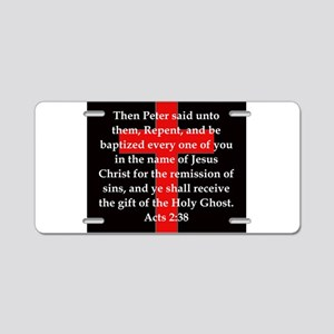 Acts 2-38 Aluminum License Plate