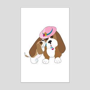 Basset Talk Mom Mini Poster Print