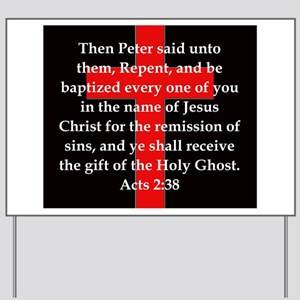 Acts 2-38 Yard Sign