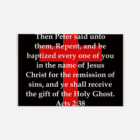 Acts 2-38 Rectangle Magnet