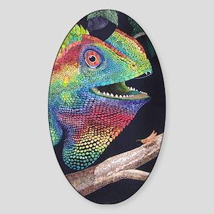 Forest Dragon Oval Sticker
