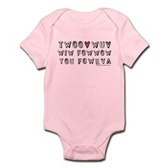 Princess Bride Twoo Wuv Foweva Infant Bodysuit