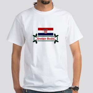 Croatian Sretan Bozic White T-Shirt