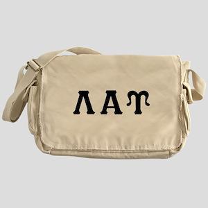 Lambda Alpha Upsilon Letters Black Messenger Bag