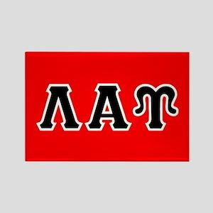 Lambda Alpha Upsilon Letters Blac Rectangle Magnet